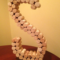 "9"" or 13"" Wine Cork Letter S"