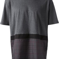 Lanvin Checked Panel T-Shirt