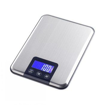 CREYLD1 Touch Button 15KG x 1g Portable Digital Balance Weight Weighing Kitchen Scale Cooking Tool Libra Diet Food CD Blue Backlit