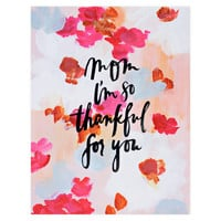 Mom So Thankful for You Mother's Day Card