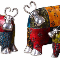 Uttermost Multicolor Colorful 3Pc Cows Accessories