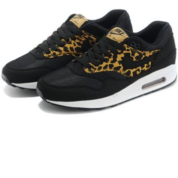 """NIKE"" Trend fashion warm running shoes man Leopard print black"