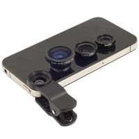 Black Universal 3 In 1 Clip-on Fish Eye Macro Wide Angle Mobile Phone Lens Camera kit for iPhone 4 5 6 Samsung S4 S5 note2 3