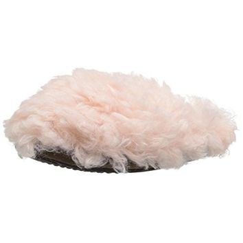 Muk Luks Womens Lucia Faux Fur Knit Clog Slippers
