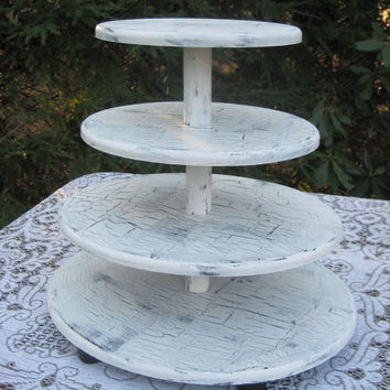 Shabby Chic Oval Cupcake Stand Wedding Decor Large