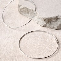 Radiant Days Silver Hoop Earrings