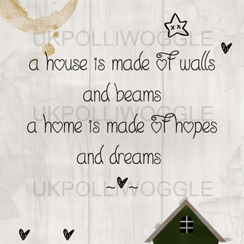 Home inspirational quote in A3 or A4 format