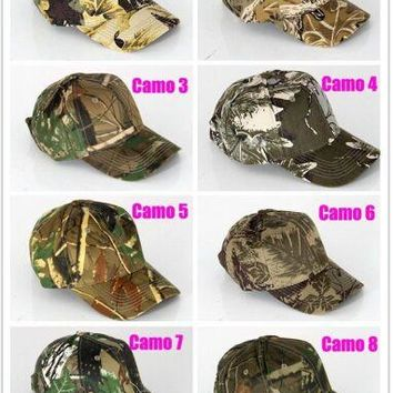 Top Quality Unisex Camouflage Baseball Caps Outdoor Sports Snapback Trucker Patrol Hat Bionic Realtree Camo Hunting Visors Cap