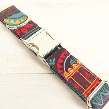 """""""The Hipster"""" Dog Collar & Leash"""