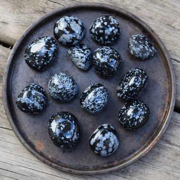 SNOWFLAKE OBSIDIAN Catalyst for Change Stone - Letting Go & New Beginnings
