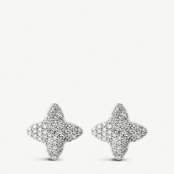 LINKS OF LONDON Splendour 18ct yellow-gold vermeil and diamond star earrings
