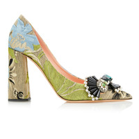 Brocade Block Heel Pumps | Moda Operandi