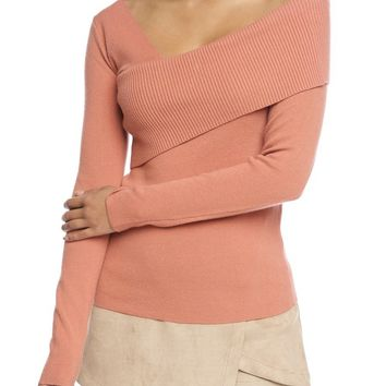 Colbie Off the Shoulder Sweater - Coral