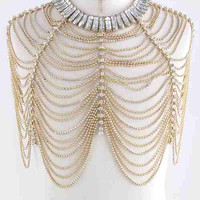 Crystal Bejeweled Shawl (Body Chain) Jewelry Body Jewelry Shoulder Jewelry Accessories
