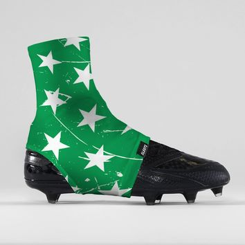 Stars Green Spats / Cleat Covers