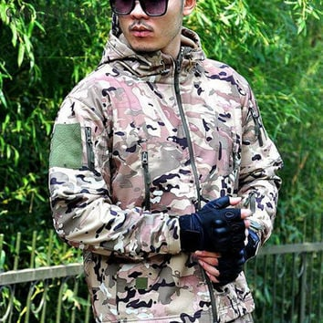 Multicam Outdoor Hunting Camping Waterproof Windproof Polyester Coats Jacket Hoody TAD softshell Outdoor Hiking Jacket