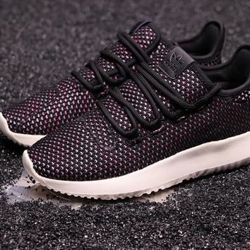 HCXX A261 Adidas Tubular Shadow CK Yeezy 350 Knit Running Shoes Black Purple