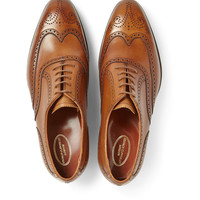 George Cleverley - Reuben Burnished-Leather Oxford Brogues | MR PORTER