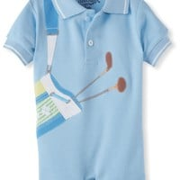 Kitestrings Baby-Boys Newborn Pique Golf Romper