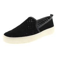 Sam Edelman Womens Suede Perforated Smoking Loafers