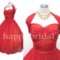 Long red Prom Dresses 2014 New Fashion Party Dresses Formal Evening Dresses Ball Gown Dresses