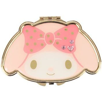 My melody face form double mirror both sides compact mirror ☆ Sanrio fashion care series ★ black cat DM service impossibility