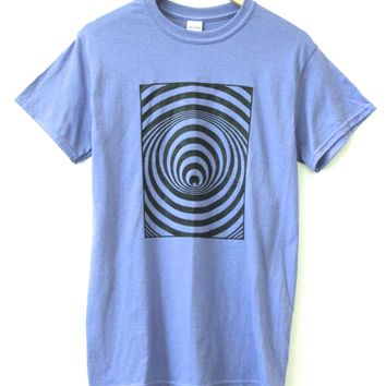 Hypnotic Spiral Wormhole Graphic Unisex Tee