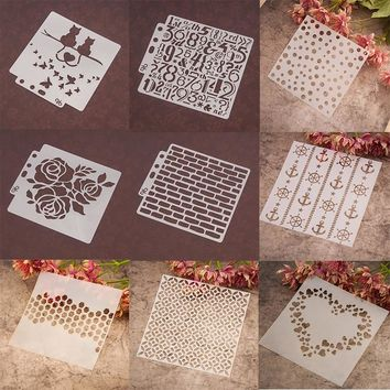 Kind of Heart Dot Numbers Stencils Sticker Painting Scrapbooking Paper Card Template Decoration DIY Home Decor Album Crafts Arts