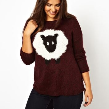 New Look Inspire Fluffly Sheep Intarsia Sweater