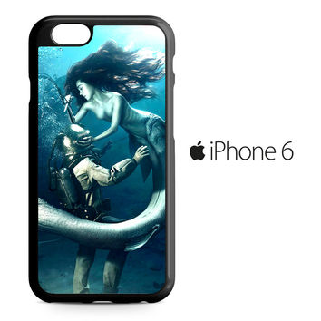 Diver and The Mermaid iPhone 6 Case