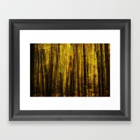 Forest Fuzz Framed Art Print by Claude Gariepy