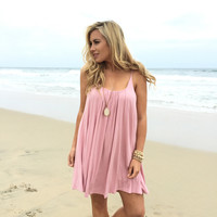 Melody Jersey Dress In Pastel Pink