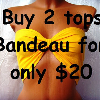 "CUSTOM MADe ""bUY 2 tOPS FOR oNLY 20 dOLLARS "" Sexy Bandeau Underwear Yoga Sport Tube Summer Bra Top Bow"