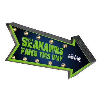 Seattle Seahawks Sign Marquee Style Light Up Arrow Design