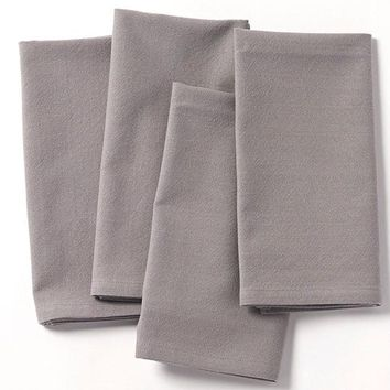 Farmhouse Pewter Organic Cotton Napkins