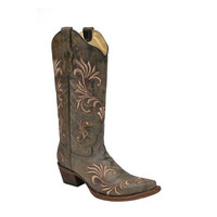 Corral Circle G Chocolate Leather Boots L5133