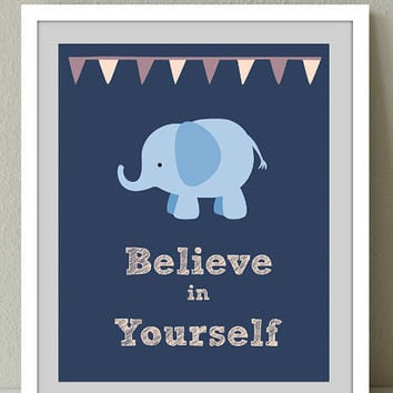 Kids Wall Decor Inspiring quote -Believe in yourself.Instant Digital Download Print/Nursery Decor/Kids Wall Art Print/Boys room/Girls Room