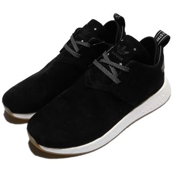 adidas Originals NMD_C2 Suede Black White Men Casual Shoes Sneakers BY3011