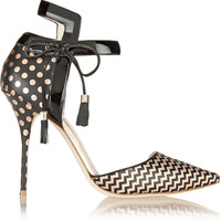 J.Crew - + Sophia Webster Pippa leather and jacquard pumps