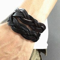 Wrap Bangle Bracelet,Real Leather Bracelet  Women Leather Bangle Bracelet ,Girl Bracelet men Leather Bangle CB12