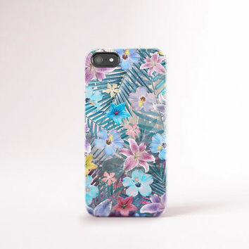 iPhone 6 case Tropical Flowers iPhone 6 Case Vintage Floral iPhone Case Retro Floral Samsung Case Summer iPhone Case Tropical Print
