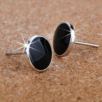 925 Sterling Silver Men'S Stud Earrings
