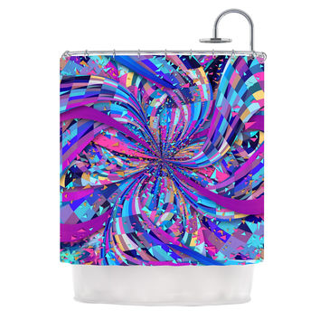 "Danny Ivan ""Flavours Explosion"" Purple Blue Shower Curtain"