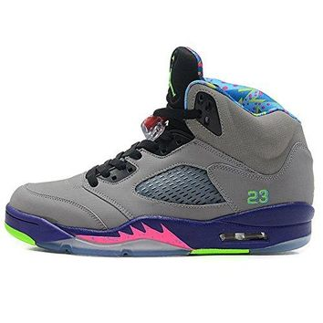 DALTON Fashion Sneaker Air Jordan 5 Retro AJ Bel Air 5 621958-090 Gray Basketball Running shoe