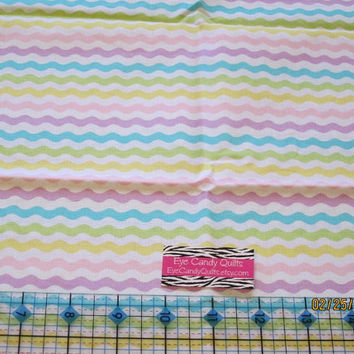 Half yard Pastel Chevron fabric, Cotton Fabric - quilting, sewing, craft