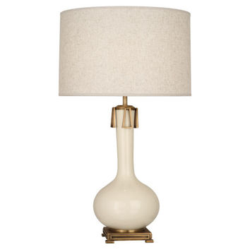 Athena Collection Table Lamp in Multiple Colors design by Robert Abbey