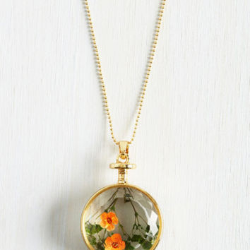 Vintage Inspired Prized Perennials Necklace by ModCloth
