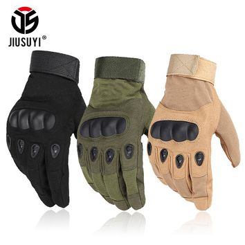 Tactical Army Military Hard Knuckle Full Finger Gloves Airsoft Paintball Shooting Combat Work Fingerless Half Finger Gloves