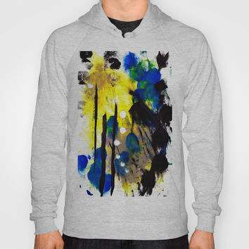Abstract Painting Hoody by Yuval Ozery