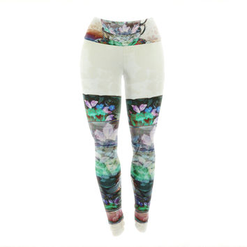 "alyZen Moonshadow ""Mad Hatters T-Party III"" Abstract Yoga Leggings"